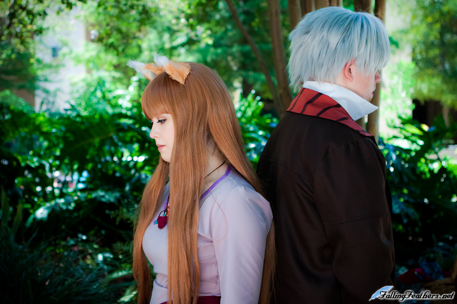 TheTurtleHermit and Orah as Lawrence and Holo from Spice & Wolf