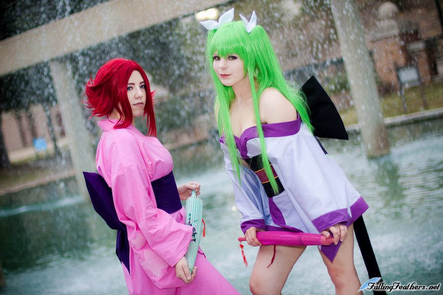 Lee and Marika-San as Kallen and CC (Kimono) from Code Geass