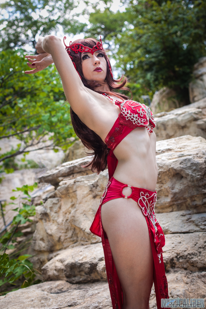 Holly Gloha's SCARLET WITCH Belly Dancer Cosplay! | Nerd ...